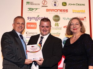 Rob Bradshaw thanks Sherriff Amenity for award win